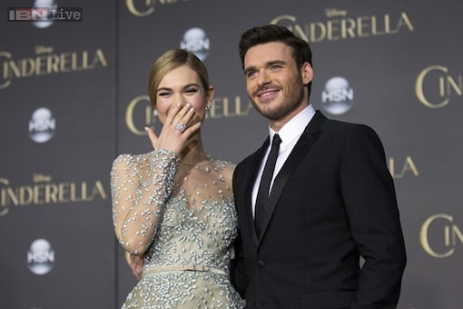 Lily James: I burped all afternoon in Richard Madden's face due to the corset while filming 'Cinderella'