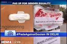Students appeal for gender equality by writing on sanitary pads, universities uncomfortable