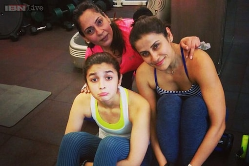 Photo of the day: Alia Bhatt pulls a post workout face