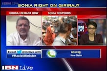 Is Sonia right in dismissing Giriraj jibe?