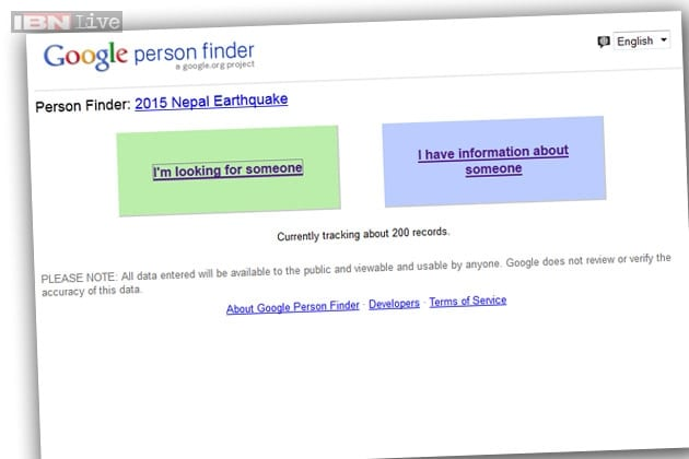 nepal earthquake google launches person finder service to help