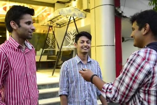 This video shows people reacting to idea of homosexual flirtation