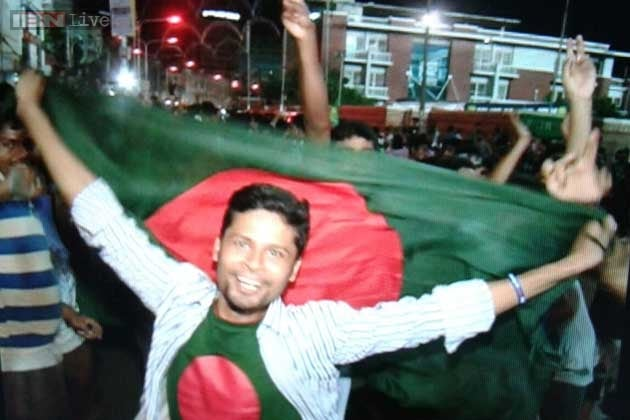 In pics: Fans erupt in joy after Bangladesh's thumping victory against India