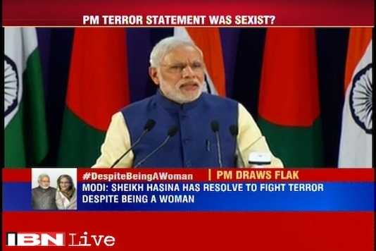 Modi courts controversy by his 'sexist' remarks on Sheikh Hasina's zero tolerance to terrorism