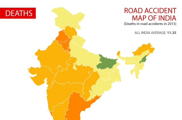Road Accident Map Of India News18