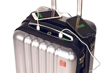 This high-tech suitcase comes with biometric lock, built-in power bank, Bluetooth speakerphone