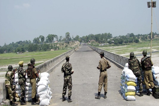 File photo of Indian border forces standing guard along a border with Nepal. (Reuters)