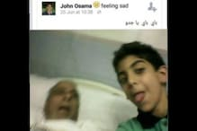 Bizzare selfie by teenager with deceased grandfather shocks the world