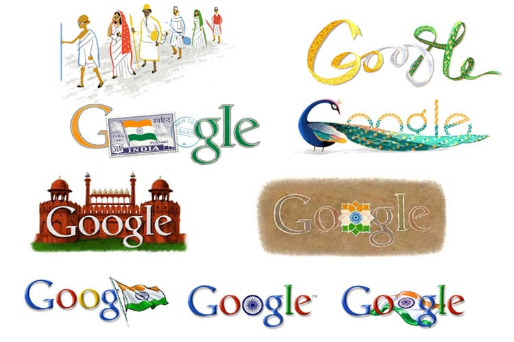 india s independence day the google doodles from 2003 to 2015 news18