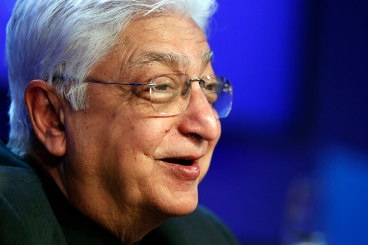 Wipro Chairman Azim Premji attends a session at the World Economic Forum (WEF) in Davos