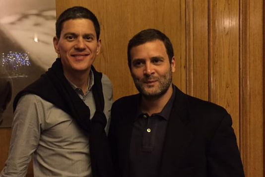 Congress counters BJP's charge, tweets Rahul's photos of attending conference in US