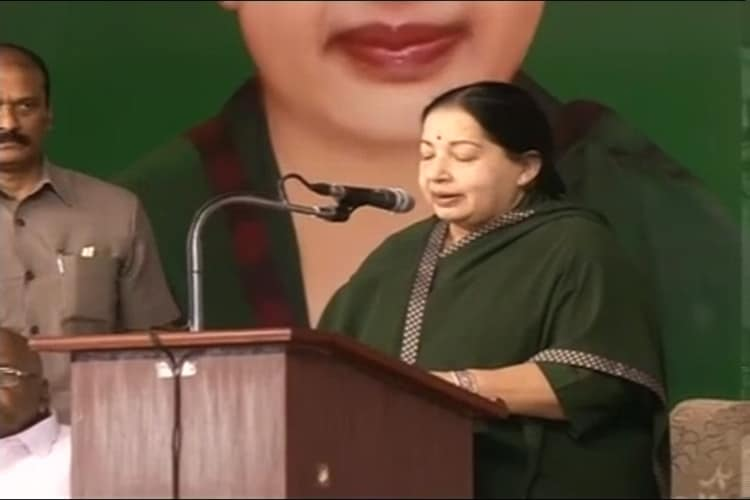 In a mood for combat: Jaya looks stronger in Tamil Nadu