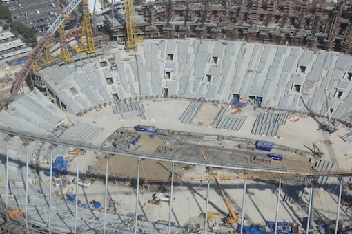 Amnesty compiled the 52-page report based on interviews from February to May last year with 132 construction workers at the Khalifa International Stadium, one of several arenas that will host World Cup matches. (Getty Images)
