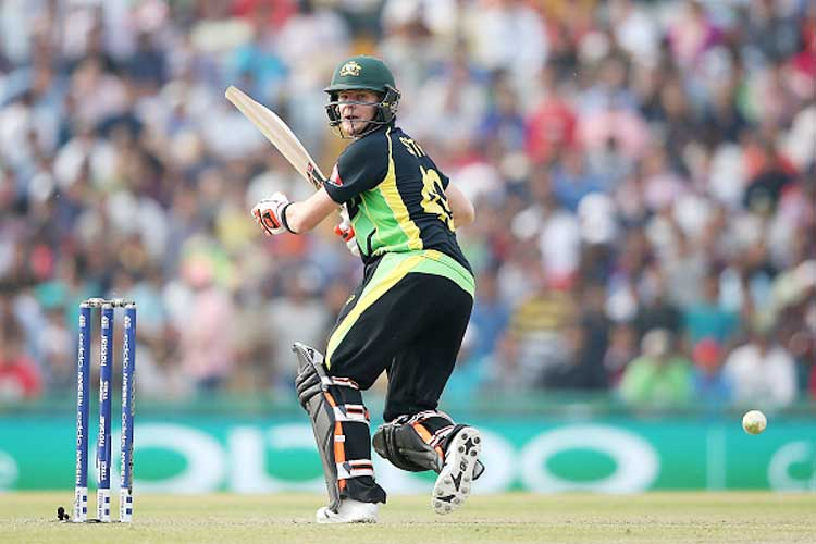 Skipper Steven Smith led from the front with an unbeaten 61 to propel Australia to an imposing 193-4 against Pakistan in a must-win World Twenty20 group match. (Getty Images)