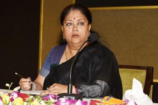 File photo of Rajasthan Chief Minister Vasundhara Raje.