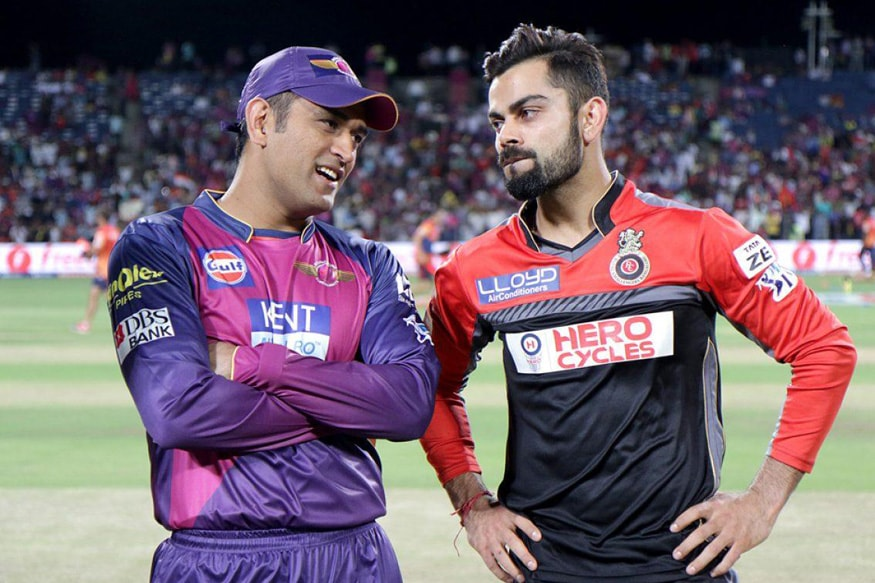 MS Dhoni and Virat Kohli chatting before the toss at the Maharashtra Cricket Association Stadium in Pune. (BCCI)