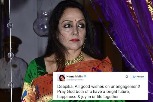 Hema Malini Wished a Deepika on Her Engagement and Twitter Went Crazy