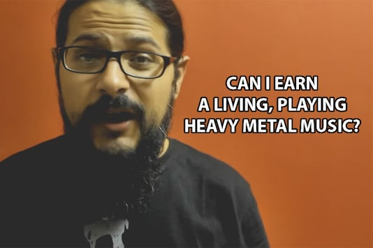 Indian heavy metal artist answers the tough question: can you earn a living playing heavy metal music?