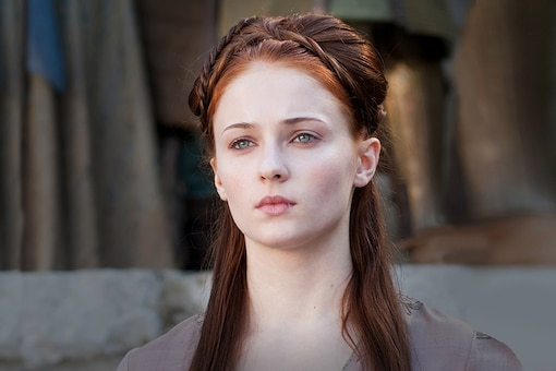 A still of Sophie Turner from Game of Thrones.