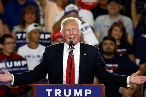 Republican presidential candidate Donald Trump speaks at a campaign event in Albuquerque, N.M. (Courtesy: AP)