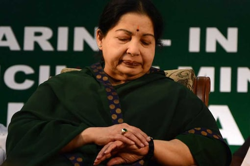 File photo of deceased Tamil Nadu Chief Minister J Jayalalithaa. (Getty Images)