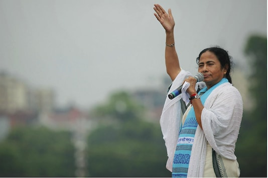 File Photo of Mamata Banerjee addresses her supporters during a rally in Kolkata.
