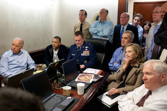 The famous file photo of Barack Obama and other high-ranking US officials receiving an update on the mission against Osama bin Laden. (Reuters)