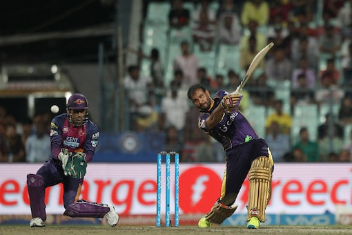 File photo of Yusuf Pathan of  KKR in action.  (BCCI)