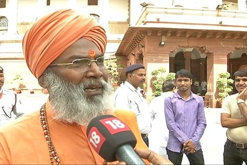 File photo of BJP MP Sakshi Maharaj.