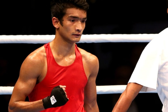 Indian boxer Shiva Thapa. (Getty Images)