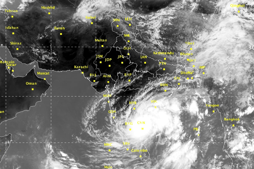 Rains Batter Coastal Tamil Nadu Cyclone Ockhi Alert For