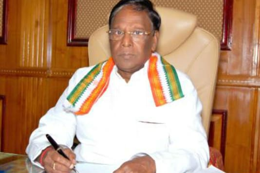 File photo of Puducherry CM V Narayanansamy.