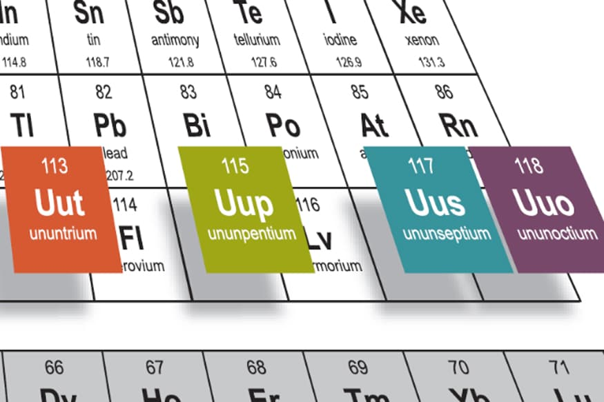 Four new chemical elements enter periodic table news18 urtaz Gallery