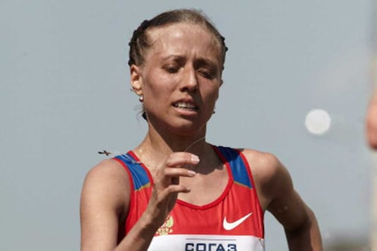 The Russian athletics federation told on Wednesday that race walkers Olga Kaniskina (in pic) and Sergey Kirdyapkin returned their medals from the London Olympics after their results were annulled for doping. (Getty Images)