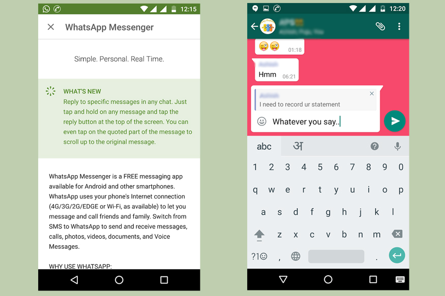 WhatsApp Now Lets You Quote Messages in Group Chats - News18