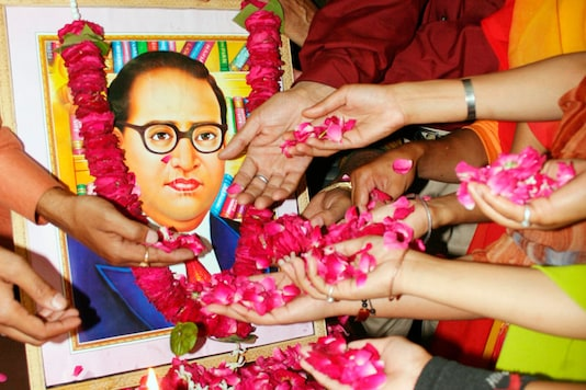 File photo: People pay tribute to Dr BR Ambedkar, the author of the Constitution. (Reuters)