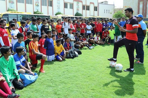 AIFF Director of Scouting Abhishek Yadav has shortlisted five boys through overseas trials for Indian Passport holders in Dubai. (Photo Credit: AIFF)