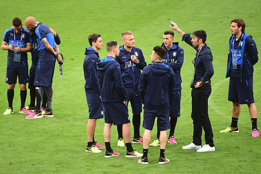 File image of members of the Italian football team during a practice session. (Getty Images)