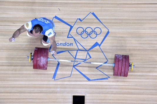 A file photo of Kazakhstan weightlifter Ilya Ilyin during 2012 London Olympics. (Getty Images)
