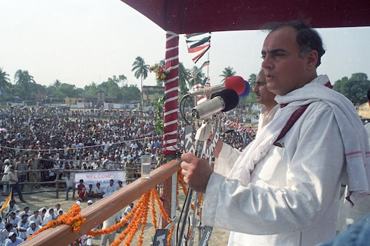 File photo of former prime minister Rajiv Gandhi who was assassinated in 1991. (File Photo/Reuters)