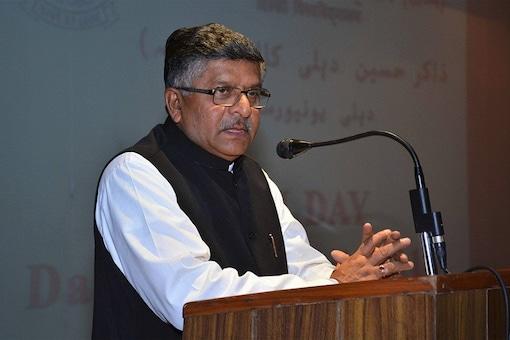 File image of Law Minister  Ravi Shankar Prasad.