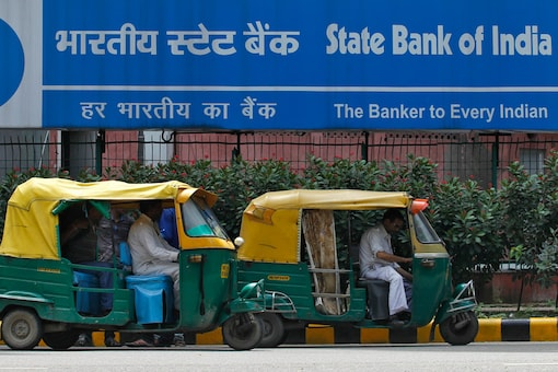 File photo of an SBI branch in Delhi (Reuters)