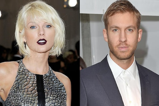 A file photo of  Taylor Swift and Calvin Harris.