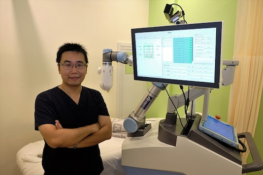 """Start-up incubated by Nanyang Technological University, Singapore unveils prototype robot in trials for sports rehabilitation. Image: <a href=""""http://media.ntu.edu.sg/NewsReleases/Pages/newsdetail.aspx?news=7ab9433d-a40d-46ba-9803-c30d99cd9355"""">Nanyang Technological University</a>"""