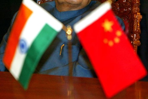 National flags of India (left) and China (right). (File photo)