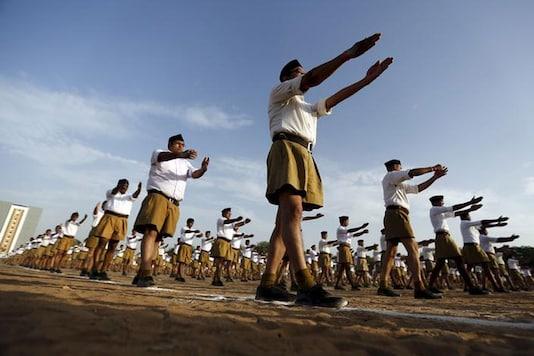 File photo of the Rashtriya Swayamsevak Sangh swayamsevaks.