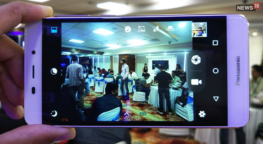 A view of the Panasonic conference through the Eluga Arc 2's rear lens. (Image: News18)
