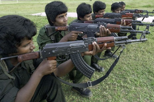 File photo of LTTE cadres/Getty Images