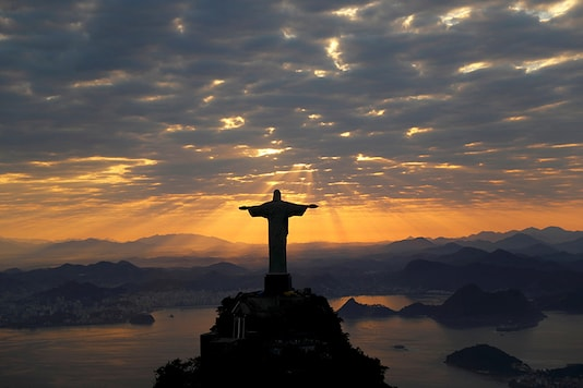 Christ The Redeemer is seen during sunrise in Rio de Janeiro, Brazil. (Reuters/File photo)