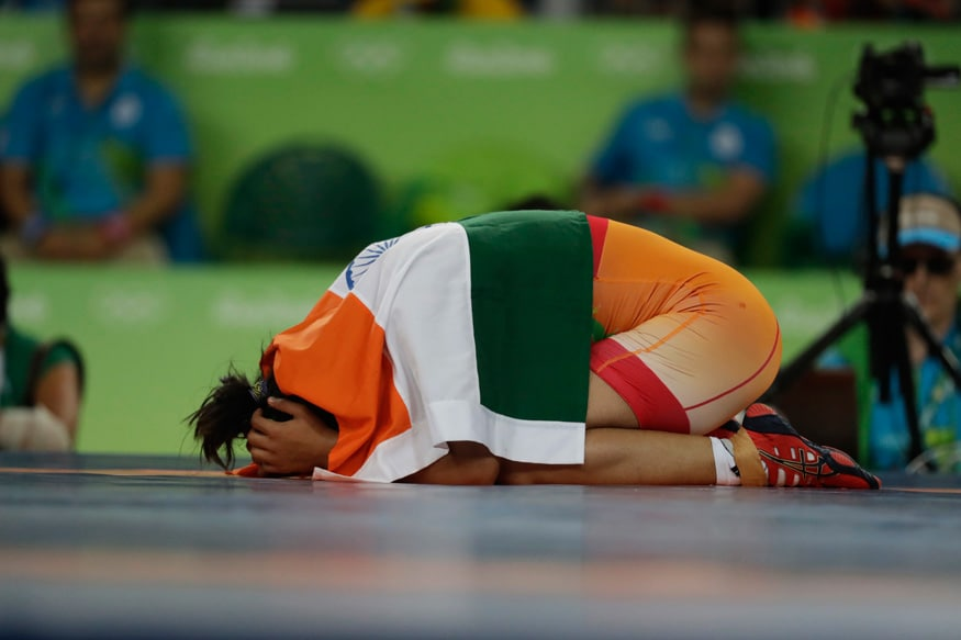 Sakshi Malik snared India's first medal of the Rio Olympics on Wednesday when she claimed bronze in the women's freestyle wrestling 58kg category. (Photo Credit: AP)